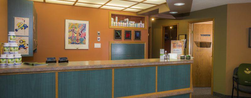 Victoria Chiropractic Centre Front Desk in Brandon, Manitoba
